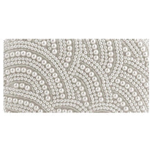 Load image into Gallery viewer, Pearl And Crystal Beaded Rectangular Evening Clutch - Beyazura.com
