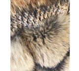 Multi Color Raccoon Fur Tweed Coat - Beyazura.com