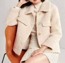 Load image into Gallery viewer, Faux Fur Teddy Side Flapped Outerwear Coat - BEYAZURA.COM