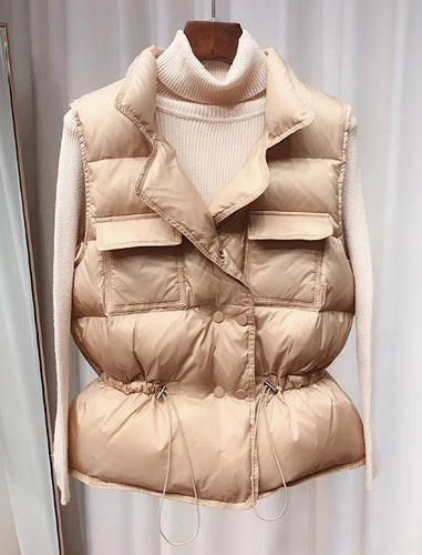 Ultra Light Down Waist Coat Vest - BEYAZURA.COM