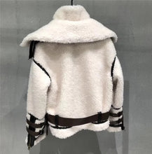 Load image into Gallery viewer, Lamb Wool Sheep Searing Fur Jacket With Stand Up Collar - BEYAZURA.COM