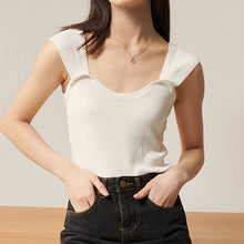 Load image into Gallery viewer, White Rib Knit Short Stretchy Top - BEYAZURA.COM