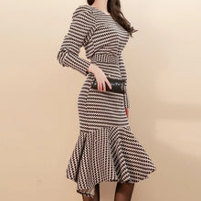 Load image into Gallery viewer, Printed Long Lantern Sleeve Top And High Waist Midi Skirt Two Piece Set - BEYAZURA.COM