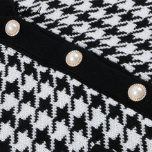 Load image into Gallery viewer, Houndstooth Pattern Knit Long Cardigan - Beyazura.com