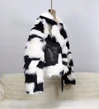 Load image into Gallery viewer, Tuscany Sheep Fur Leather Trimmed Coat - BEYAZURA.COM