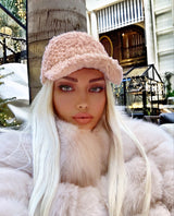 Faux Fur Adjustable Closure Cap - Beyazura.com