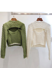 Load image into Gallery viewer, Cable Twist Braid Knit Two Piece Sweater - BEYAZURA.COM