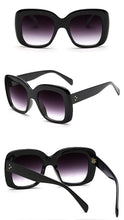 Load image into Gallery viewer, Oversized Gradient Black Lens and Frame Sunglasses - BEYAZURA.COM