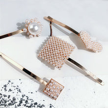 Load image into Gallery viewer, Pearl Rose Gold Hair Pins - BEYAZURA.COM