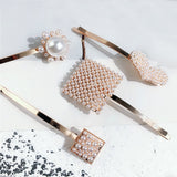 Pearl Rose Gold Hair Pins - Beyazura.com