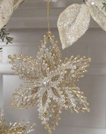 Glittered Starburst Ornaments (Silver)