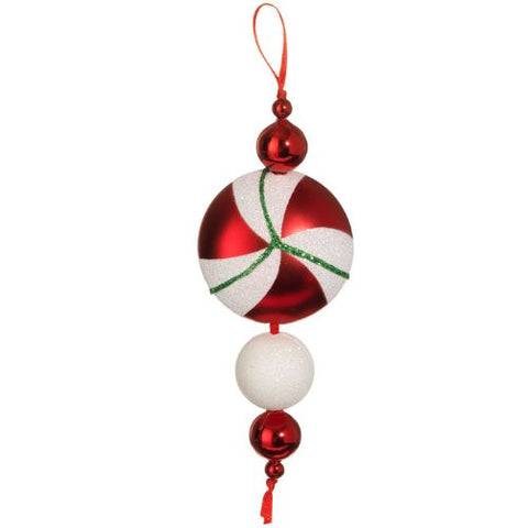 "RAZ Imports - 6"" RED PEPPERMINT DROP"