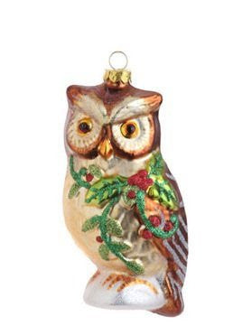 RAZ Imports - Multicolored Raccoon, Squirrel or Owl Glass Ornaments