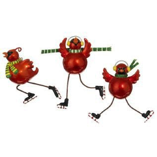RAZ Imports - Skating Red Cardinal Ornaments