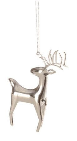 RAZ Imports Silver Deer Ornament, Choice of Styles