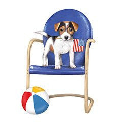 Mary Lake-Thompson - Puppy On Chair Flour Sack Towel