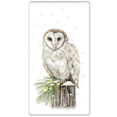 Mary Lake-Thompson - Snowy Owl Bagged Towel
