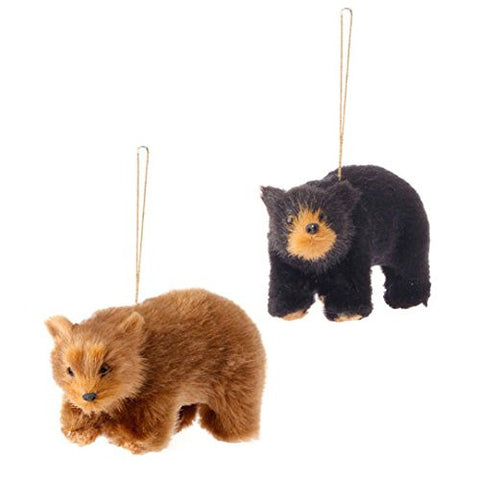 "RAZ Imports - 4.5"" Bear Ornaments - Set of 2"