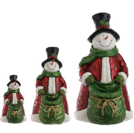 RAZ Imports - Multicolored Nested Snowmen