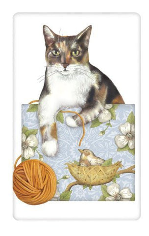 Mary Lake-Thompson - Calico Cat Flour Sack Towel