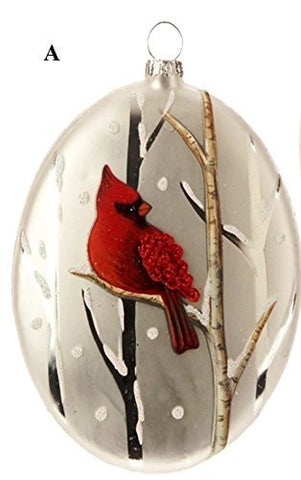 RAZ Graphic Woodland Cardinal Ornament, Choice of Style