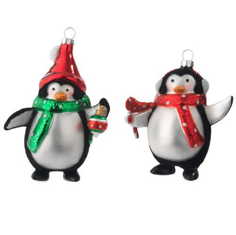 Sullivans - Penguin Glass Ornaments