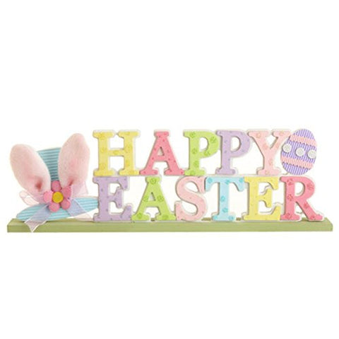 "RAZ Imports Spring Easter ""Happy Easter"" Wooden 15"" Sign"