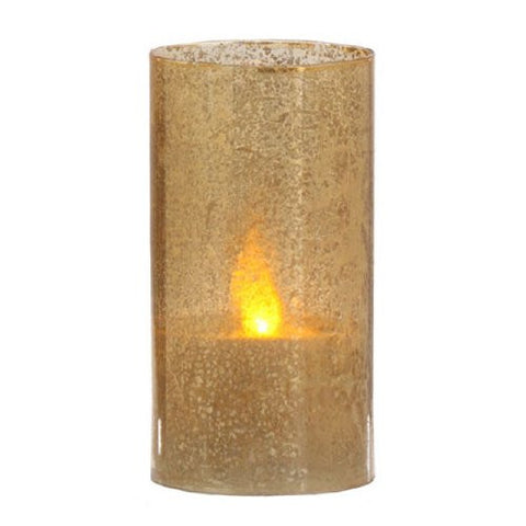 "RAZ Imports - 6""X3"" Antiqued Glass B/O Candle with Timer"
