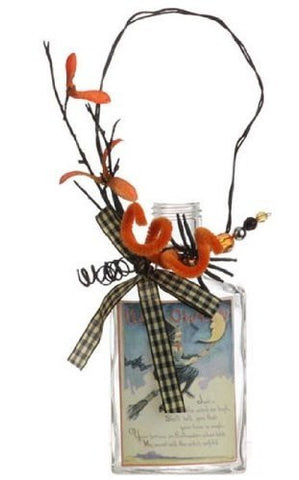 RAZ Imports - Halloween - Decorative Vintage Glass Bottles