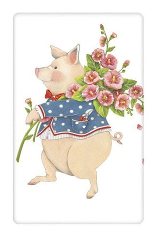 Mary Lake-Thompson - Easter Pig - Bagged Flour Sack Towel