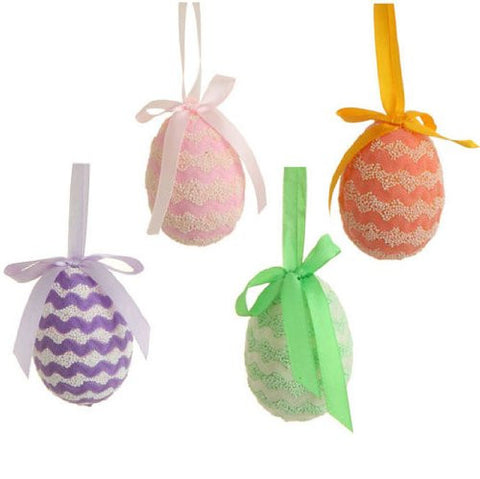 "RAZ Imports - Set of 4 - 3"" Spring / Easter Egg Ornaments"