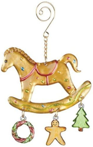 "Sullivans - 4"" Glass Rocking Horse Ornament"