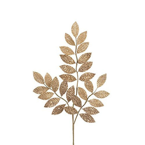 "RAZ Imports - 30"" Glittered Leaf Spray"