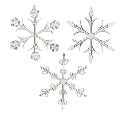 Glass Snowflake Ornament 7.5""