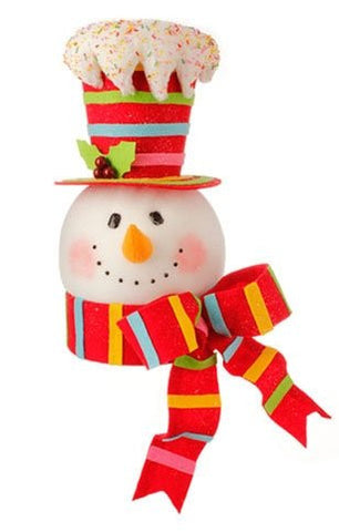 Raz Imports Candy Sprinkles Tree Topper - RED HAT