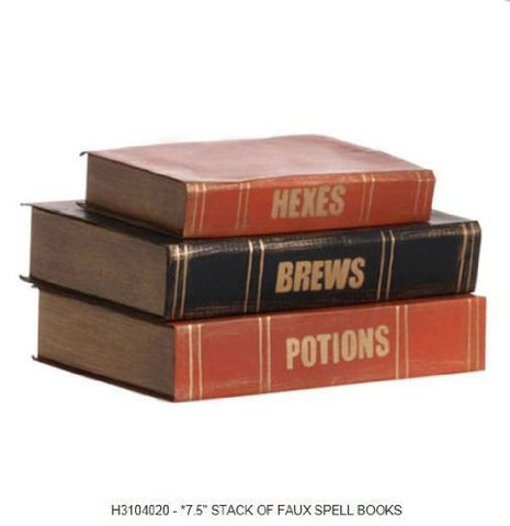 "RAZ Imports - 7.5"" Stack Of Faux Spell Books"