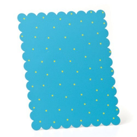 Embellish Your Story Aqua w/Green Dots Magnetic Memo Board Rectangle - Embellish Your Story Roeda 14271-EMB