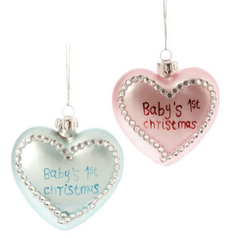 RAZ Imports - Baby's First Christmas Ornaments
