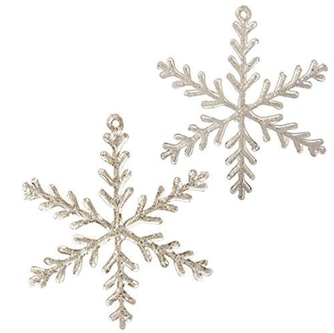 "RAZ Imports - 10"" Snowflake Ornaments - Set of 2"