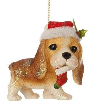 "RAZ Imports - Night Before Christmas - 3.5"" Dogs / Puppies with Elf Hats"