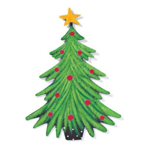 DEMDACO 11-Inch Metal Magnet 13982 - Christmas Tree
