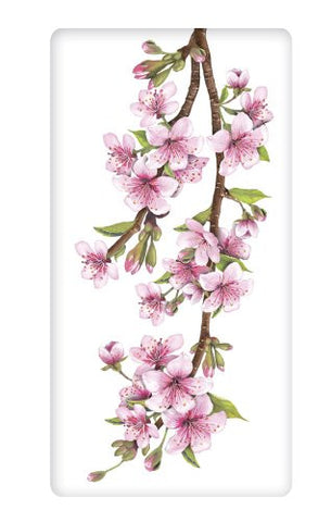 Mary Lake-Thompson - Pink Cherry Blossom Flour Sack Towel