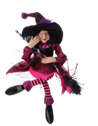 "RAZ Imports - Halloween Decoration - 20"" Sitting Witches"