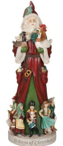 "Sullivans - 18"" 12 Days of Christmas Santa"