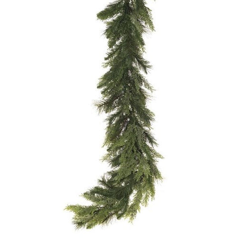 RAZ Imports - Mixed Pine and Cedar Garland 9'