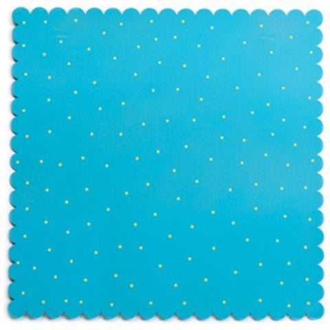 Embellish Your Story Aqua w/Green Dots Magnetic Memo Board Large Square - Embellish Your Story Roeda 14143-EMB