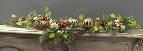 RAZ Imports - 5' Holly Ball Garland