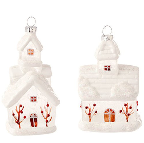 "RAZ Imports 5"" Church Christmas Tree Ornaments"