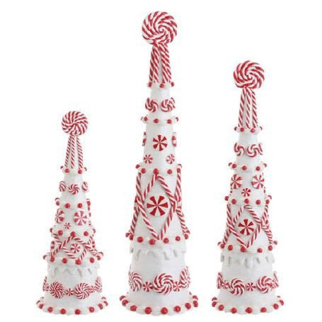 "RAZ Imports 18"" Peppermint Cone Trees (Set of 3)"
