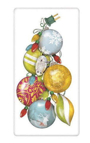 Flour Sack Towel Designed by Mary Lake Thompson - Christmas Ornaments & Lights
